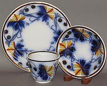 English Gaudy ironstone plate, cup & saucer