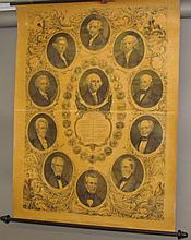 The Presidents of the United States wall chart