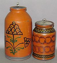 2 Greg Shooner redware storage jars