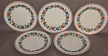 5 stick spatter luncheon plates