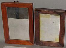 2 framed mirrors