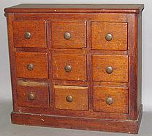 Mahogany 9 drawer spice/seed chest