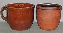 2 PA redware crocks