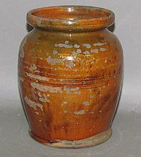 Signed Willoughby Smith redware jar