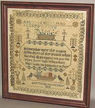 Ann Toms framed sampler