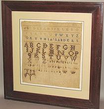"""Alphabet sampler signed """"WW"""""""