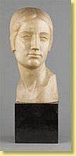 Léon Sarteel (École belge). Sculpture en marbre