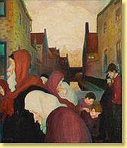 Jan Frans Cantré (1886-1931) École belge Huile sur