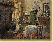 Albert Geudens (1869-1949) École belge Huile sur