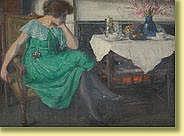 Willy Van Riet (1882-1927) Huile sur panneau: