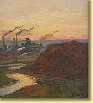 Willem Delsaux (1862-1945) École belge Huile sur