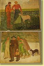 Arthur Craco (1869-1955) École belge Techniques