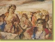 Raphaël de Buck (1902-1986) École belge Aquarelle