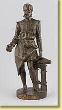 Isidore De Rudder (École belge). Sculpture en