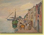 Mario Cortiello (1907-1982) École italienne Huile