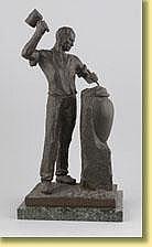 Sylvain Norga (École belge). Sculpture en bronze à