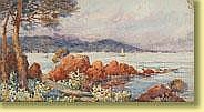 Louis German (1863-1946) Aquarelle sur papier: Vue