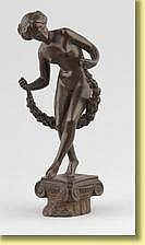 Charles Samuel (École belge). Sculpture en bronze