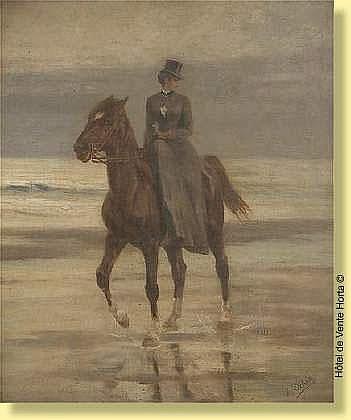 Jean Joseph Delvin (1853-1922) Ecole belge Huile