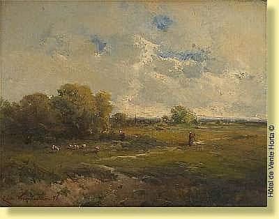 Emile Keymeulen (1840-1882) Ecole belge Huile sur