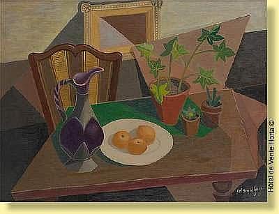 Edgard Scauflaire (1893-1960) Ecole belge Huile