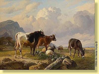 Louis Robbe (1806-1887) Ecole belge Huile sur