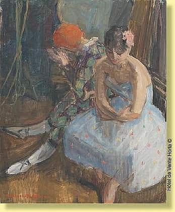Marguerite Antoine (1907-1989) Ecole belge Huile
