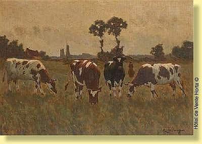 René de Baugnies (1869-1962) Ecole belge Huile sur