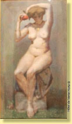 Emile Lecomte (1866-1938) Ecole belge Pastel sur