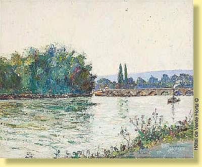 Pierre Thevenet (1870-1937) Ecole belge Huile sur