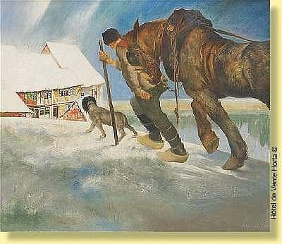 Maurice Langaskens (1884-1946) Ecole belge Huile