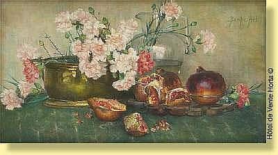 Berthe Art (1857-1934) Ecole belge Pastel sur