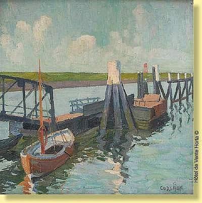 Oscar Coddron (1881-1960) Ecole belge Huile sur