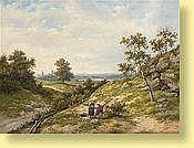 Hendrik Barend Koekkoek (1849-1909) Ecole holla