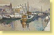 René Clarot (1882-1972) Ecole belge Huile sur