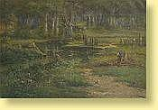 Henri Langerock (1830-1915) Ecole belge Huile sur
