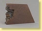 Félix Roulin (Ecole belge). Sculpture en bronze: