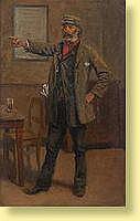 Eugène van Gelder (1856--) Ecole belge Huile sur