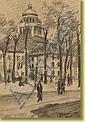 Alexandre Denonne (1879-1953) École belgeDessin au, Alexandre Denonne, Click for value