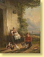 Henri de Beul (1845-1900) Ecole belge Huile sur