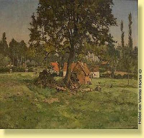 Joseph Coosemans (1828-1904) Ecole belge Huile sur