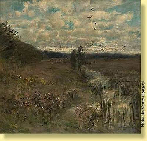 Gustave den Duyts (1850-1897) Ecole belge Huile