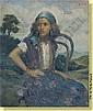 Jean Roch Collon (1894-1951) Ecole belge Huile sur toile: Jeune maure sur fond de paysage. Signee: Collon JR. Dimensions : 60 x 50, Jean Roch Collon, Click for value