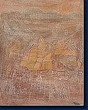 Michel FOUAT (Rocourt 1939) Le village bleu