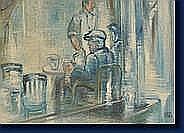 Milo MARTINET (Lausanne 1904 - Liège 1988) Au café