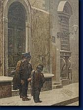 Giuseppe GIANI (Cerano 1829-1885) Scène hivernale