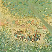 "Pál HOMONAI (Irig/Serbie 1922 - Kecskemét/Hongrie 2010) ""L'arbre de Noël"