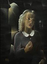 """Milo MARTINET (Lausanne 1904 - Liège 1988) """"Jeune femme dans la lumière"""