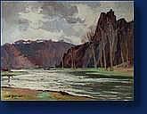 Ludovic JANSSEN (Liège 1888-1954) Les rochers de
