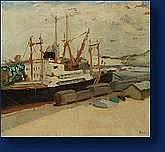 Paul NOLLET (Liège 1911-1996) Le port de Rouen